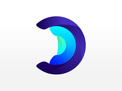 Bigdata logo logotype design symbol logo corporate clean bigdata logodesign logotypes d lettermark gradient green blue identity mark branding