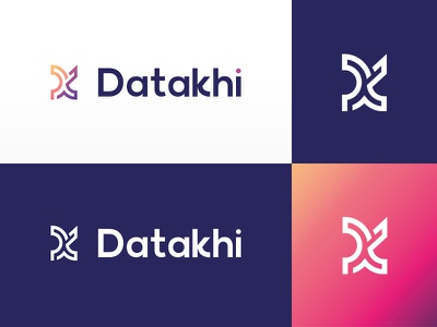Bigdata logo final corporate graphic design khi k d bigdata gradient logodesign mark identity logotype grey design branding blue logo white clean