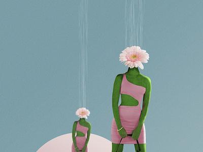 In Bloom digital collage graphic design design poster poster design