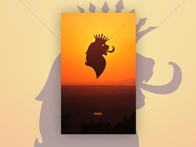 King king lion poster