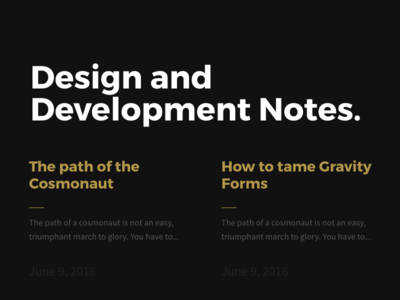Article List Layout All Black blog layout webdesign interface ui