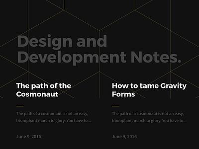 Article List Layout Final-ish blog layout webdesign interface ui