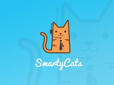 SmartyCats computers cats branding logo
