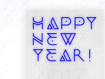 Happy New Year Dribblers happy new year poster design poster
