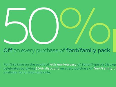 SoneriType's 4th Anniversary Offer typeface type design sone soneritype font letter character glyph