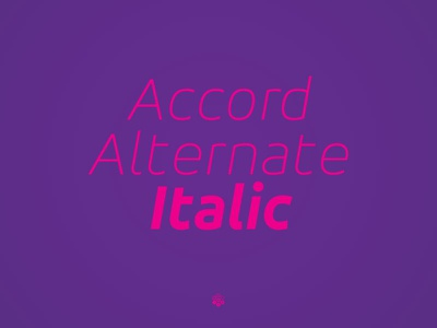 Accor Alternate Thin Italic accord alternate thin italic typeface type design sone soneritype font letter character glyph