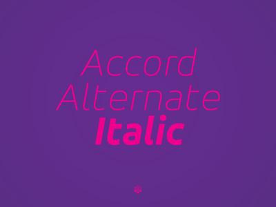 Accor Alternate Thin Italic accord alternate thin italic typeface type design sone soneritype font letter character glyph