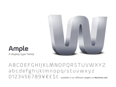 Ample - A display type family type design font typeface typography