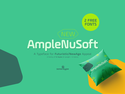 AmpleNuSoft - A display type family soneri letter glyph character soneritype font type typeface