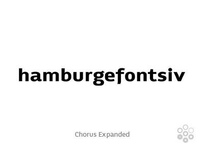 Chorus Expanded chorus expanded typeface