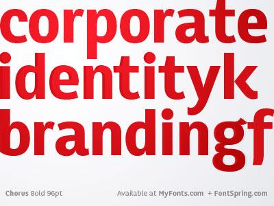 Chorus Typeface chorus typeface