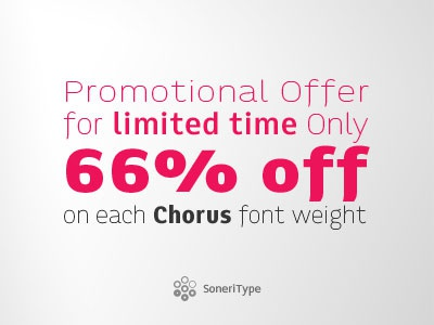 Chorus Font at 66% Off for limited time period Only chorus typeface font design