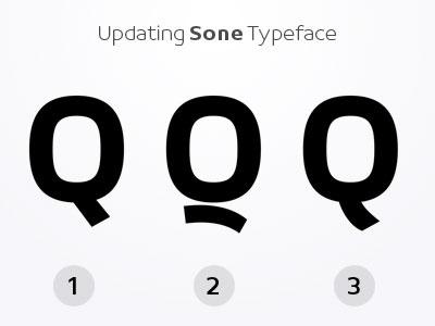 Q - Sone Typeface Update in Progress typeface type design sone soneritype font letter character glyph