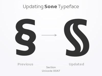 Section - Sone Typeface Update in Progress typeface type design sone soneritype font letter character glyph