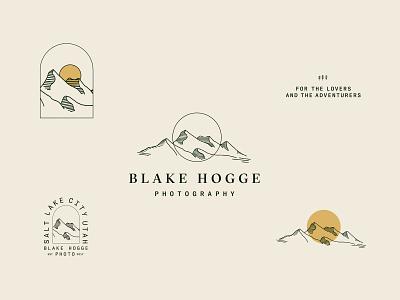 Blake Hogge Photo illustration brand identity landscape branding adventure photo branding photography branding marks icons secondary mark primary logo logos rebrand brand branding