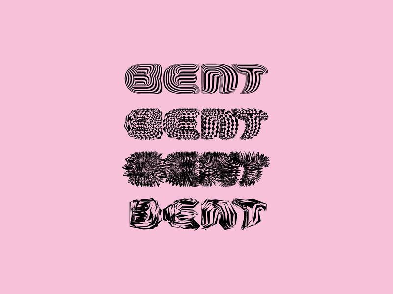 BENT Zine typographic logotype logo distort experimental typography experimental design experimental type design design print editorial branding type typography