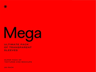 MEGA – Transparent Sleeve Pack