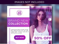 Purple Fashion Social Media Banner Template for Instagram