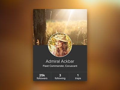 Ackbar Card proxima nova user card