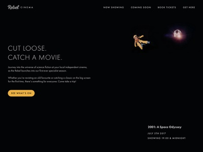 Daily UI #003 - Landing Page science fiction landing page cinema film movie 2001 003 dailyui