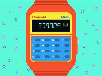 Daily UI #004 - Calculator watch 80s calculator 004 dailyui