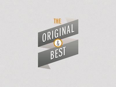 Original & Best ribbon
