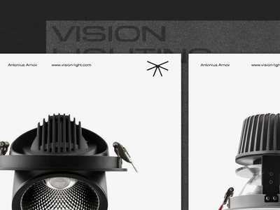 Vision Light logotype sign lamp vision light extended