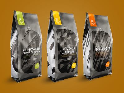 Tea Packaging Design for Rooster Brand tea design brush pattern ilustration packaging design bag design tea packaging design