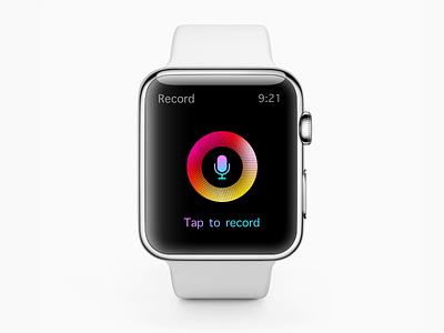 Apple Watch | Voice Rcording App Concept interface ios concept design apple design apple watch apple app minimal design concept ui ux clean animation