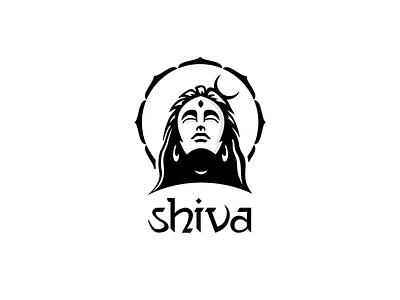 Lord Shiva logo symbol dribbble best shot mythology india t-shirt popular design creative 2020 trend dribbble best shot abstract lineart hindu shiva icon indian god graphic design vector illustration minimal