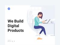Design studio website concept design