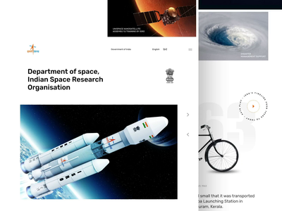 ISRO Website Redesign Concept animation website grid india rocket space redesign interface interaction digital desktop flat web concept minimal design ux ui clean