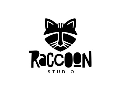 Raccoon Logobaker studio animals animallogo logodesign logo raccoon