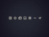 Mini Media Icons