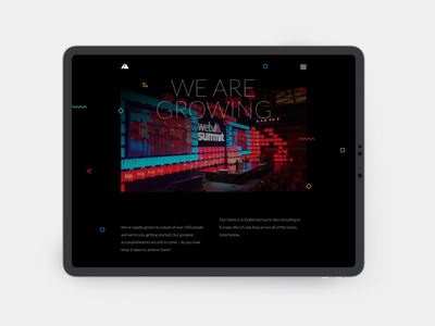 Web Summit websummit dark ui conference website mobile ui illustration branding web design app ui