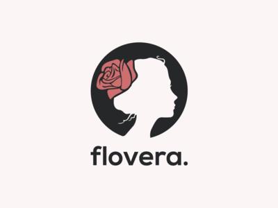Flovera illustration design symbol negativespace negative space face florist flower logodesign logotype logo