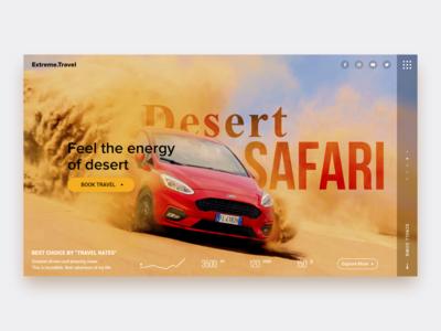 Desert Safari Web Concept page layout landingpage safari desert dailyinspiration concept interface webdesign web uxui ux uiux ui daily ui adobe xd