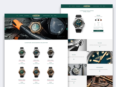 Laventure Watches design web user interface store online shop watches layout webdesign