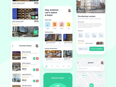 Hotel Mobile App ux design widget house mobile app ux branding illustration hotel booking booking hotel app uidesign uxdesign app design ui flat application