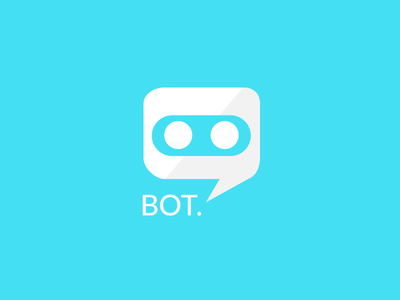 chat app logo with blue