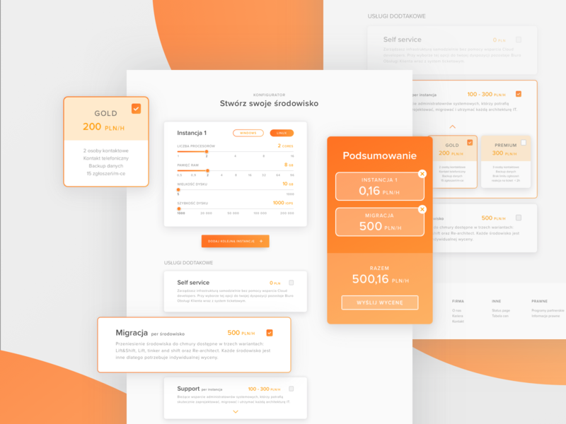 Wizard orange landing page design website ux web ui