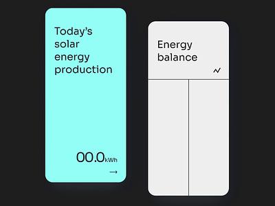 Home Solar figmadesign ux clean uidesign solar solarpanels homesolar energy consumption monimal smarthome