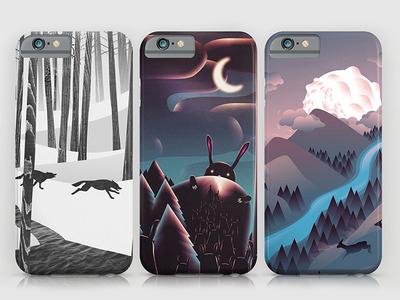 iPhone Cases animals nature merchandise product design print illustration art artwork cover case iphone