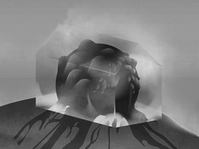 Disappointments laboratory print nature glass body terrarium greenhouse biology black and white design art illustration