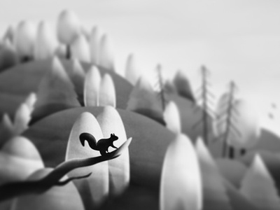 • • landscape drawing squirrel animal forest nature childrens book book wip design art illustration