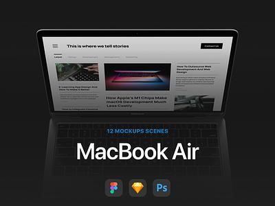 12 Most Popular MacBook Air Mockups app design iphone macbook mockup macos macbook air macbook ios mockups presentation apple template 360mockups mockup