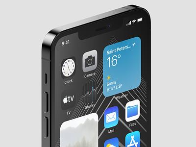 iPhone 12 Pro Max Mockups app design design iphone app iphone 12 pro max iphone 12 apple ios mockups iphone presentation 360mockups mockup