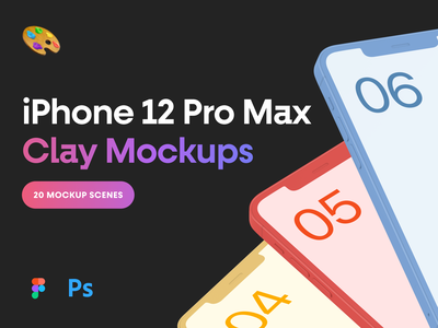 iPhone 12 Pro Max Clay Mockups iphone 12 pro max iphone 12 presentation clay mockup iphone mockup device app design apple 360mockups mockup