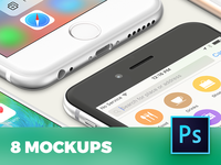 8 iPhone 6s perspective mockups