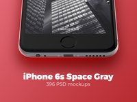 396 iPhone 6s Space Gray mockups